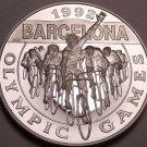 Cameo Silver Proof Cayman Islands 1992 5 Dollars~Barcelona Olympics~Free Ship