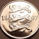 Gem Unc Estonia 1997 20 Senti~3 Czech Lions Stacked On Each Other~Free Shipping