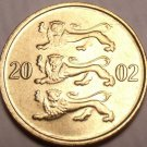 Gem Unc Estonia 2002 10 Senti~3 Leopards Stacked On Each Other~Free Shipping