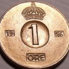 Gem Unc Sweden 1956 Ore~Mint Error Die Crack Over The 9~All Coins~Free Shipping