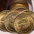 Gem Unc Roll (20 Coins) Large South Africa 1964 Half Cents~Last Year~Free Ship