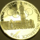 Silver Proof Austria 1974 100 Schilling~Imperial Eagle~Olympics In Innsbruck~F/S
