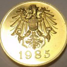 Austria 1985 Proof Set Medallion~Screaming Eagle~Free Shipping