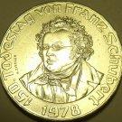 Huge Gem Unc Silver Austria 1978 50 Schilling~Death Of Franz Schubert Free Ship