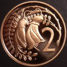 Rare Cameo Proof New Zealand 1986 2 Cents~10,000 Minted~Kowhai Leaves~Free Ship