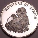 Silver Proof Uganda 2003 1,000 Shillings~Gorilla Eating~Fantastic~Free Shipping