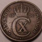 Scarce Iceland 1926 HCN-GJ 2 Aurar~1st Year Ever Minted~Nice~Free Shipping*