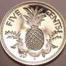Proof Bahamas 1974 5 Cents~Pineapple~1st Year Ever Minted This Type~Free Ship