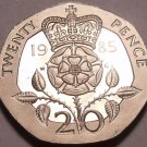 Super Cameo Proof Great Britain 1985 20 Pence~Proof Coins Are Best~Free Shipping
