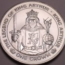 Rare Gem Unc Isle Of Man 1996 Crown~The Legend Of King Arthur~30,000 Minted~Fr/S