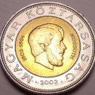 Gem Unc Hungary Bi-Metal 2002 100 Forint~Lajos Kossuth~Only 997k Minted~Fr/Ship