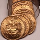 Unc Roll (20) Great Britain 1963 Half Pennys~The Golden Hind~Free Shipping