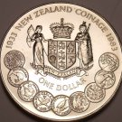 Gem Unc New Zealand 1983 Dollar~50 Years Of Coinage~Only 65,000 Minted~Fr/Ship