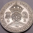 Silver Great Britain 1942 2 Shillings~See Our Silver Coins~Free Shipping