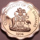 Proof Bahamas 1974 10 Cents~Bone Fish~1st Year Ever This Type~Free Shipping