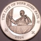 Unc Somali 2004 25 Schillings~The Life Of Pope John Paul II~Pope In Window~Fr/Sh