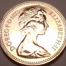 Scarce Proof Great Britain 1973 Penny~Only 100,000 Minted~Proofs R Best~Free Shi