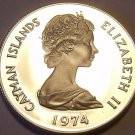 Rare Proof Cayman Islands 1974 5 Cents~Pink Spotted Shrimp~30K Minted~Free Ship