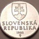 B.U. Slovakia 1993 10 Halierov~1st Year For Coinage~Church Steeple~Free Shipping