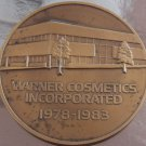 Rare Huge 76mm Solid Bronze Warner Cosmetics Medallion~George Friedman~Fr/Ship