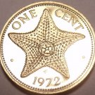 Rare Proof Bahamas 1972 Cent~Starfish~Only 35,000 Ever Made~Free Shipping