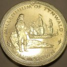 Gem Unc Isle Of Man 1979 Crown~Millennium Of Tynwald~Huge Ship~100k Minted~Fr/Sh