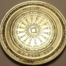 Rare Gem Unc Silver Thailand BE2514 (1971) 50 Baht~The Buddhist Wheel Of Law~F/S
