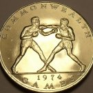 Rare Gem Unc Samoa 1974 Tala~10th Commonwealth Games~Boxing Match~40k Minted~F/S