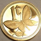 Cameo Proof Papua New Guinea 1975 Toea~Butterfly~Free Shipping