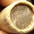 Gem Unc Original Roll (50 Coins) Belgium 1962 1 Franc Coins~Awesome~Free Ship