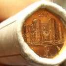 Gem Unc Original Roll (50) Italy 2010 1 Euro Cents~The Castle DelMonte~Free Ship