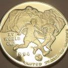 Rare Silver Proof Uganda 1992 10,000 Shillings~World Cup Soccer~10k Minted~Fr/Sh
