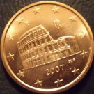 Gem Unc Italy 2007 5 Euro Cents~The Roman Colosseum~Excellent~Free Shipping