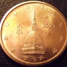 Gem Unc Italy 2000 2 Euro Cents~The Tower Mole Antonelliana~Fantastic~Free Ship