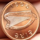 Gem Unc Ireland 1996 Penny~Irish Harp~Bird From The Book Of Kells~Free Shipping