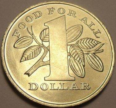 Unc Trinidad & Tobago 1979 F.A.O. Dollar~We Have F.A.O. Coins~Free Shipping