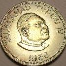 Rare Gem Unc Tonga 1968 50 Seniti~Taufa'ahau Tupou IV~Only 25,000 Minted~FR/Ship