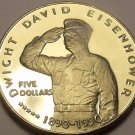 Gem Unc Marshall Islands 1990 $5.00~General Dwight David Eisenhower~Free Ship