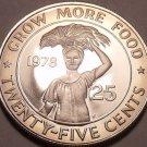 Rare Proof Liberia 1978 F.A.O. 25 Cents~Only 7,311 Minted~Fantastic~Free Ship