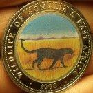 Proof Somalia 1998 25 Shillings~Multicolored Leopard~Fantastic~Free Shipping