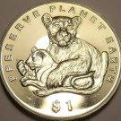 Gem Unc Eritrea 1995-PM Dollar~Preserve Planet Earth~Lions~Free Shipping