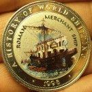 Proof Somalia 1998 25 Shillings~Roman Merchant Ship~Multicolored~Free Shipping