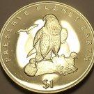 Gem Bu Eritrea 1996 Dollar~Fantastic Laner Falcon~Preserve Earth~Free Shipping