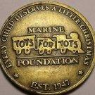US Marine Corp~Semper Fidelis~Toys For Tots Foundation Medallion~Est 1947~Fr/Shi