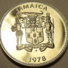 Rare Proof Jamaica 1978 10 Cents~Only 6,058 Minted~Butterfly~Free Shipping