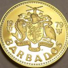 Rare Proof Barbados 1979 5 Cents~Mintage 4,126~South Point Lighthouse~Free Ship