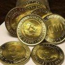 Gem Unc Roll (20) Ecuador 1997 1,000 Sucres~Bimetal~70th Anniv National Bank~F/S