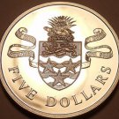 Rare Silver Proof Cayman Islands 1972 $5 Dollars~Only 11,000 Minted~Free Ship