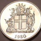 Rare Proof Iceland 1980 5 Kronur~Only 15,000 Minted~Fantastic~Free Shipping
