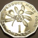 Rare Proof Jamaica 1978 F.A.O. Cent~Only 6,058 Minted~12 Sided~Ackee Fruit~Fr/Sh